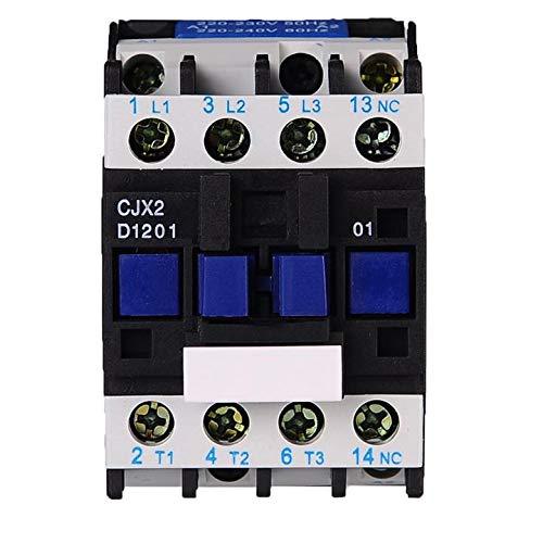 ETial DC contactor distribución relé de arranque de Motor eléctrico polo trifásico 1NC 24 V voltaje de bobina CJX2-1201-DC