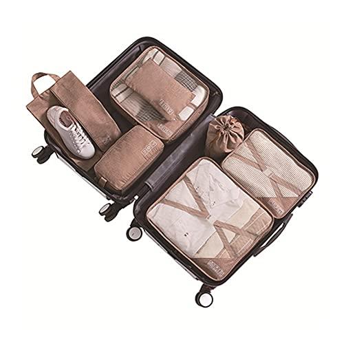ZCPCS. 7pcs / Set Solid Business da viaggio per uso domestico Business da campeggio all'aperto imballaggio cubo organizzatore bagagli vestiti biancheria intima scarpe stoccaggio sacchetto di stoccaggi