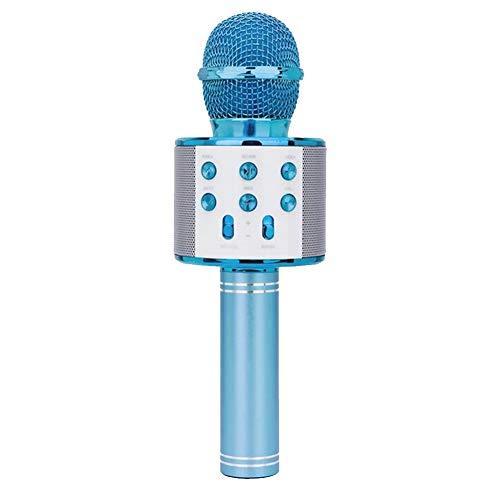 TOPofly Karaoke del micrófono inalámbrico, Altavoz Altavoz Reproductor de Karaoke Bluetooth del Partido del hogar KTV para Android/iPhone/Azul de la PC