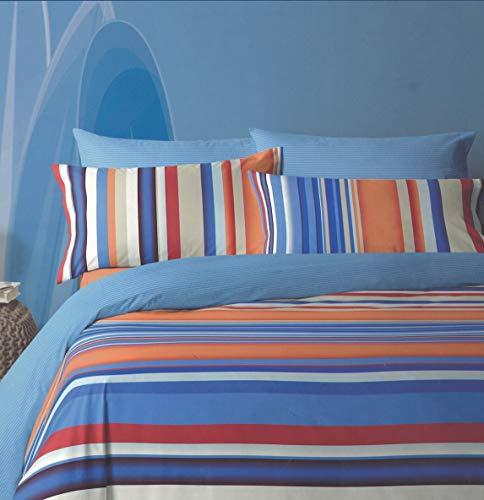 Bassetti - Juego completo de sábanas con dobles fundas de almohada, 100% algodón por debajo + por encima + fundas de almohada
