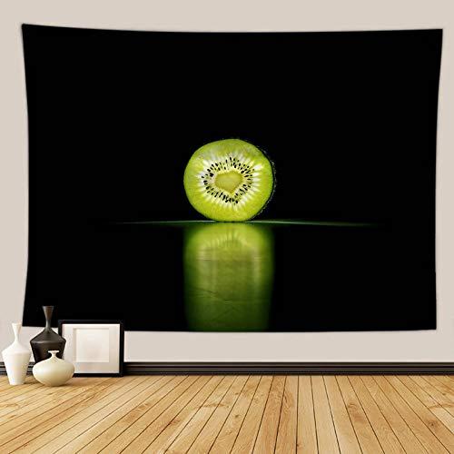 Daesar Arazzo da Appendere, Arazzo Moderno da Parete Kiwi con Cuore Verde Teli Copridivano Fantasia 230×150CM Telo Copridivano Poliestere