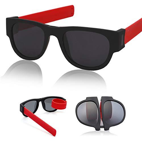 TUOTUO Gafas de Sol Polarizadas para Hombre Mujer S/úper Liviana Plegables Lentes Deportivas Protecci/ón 100/% UV