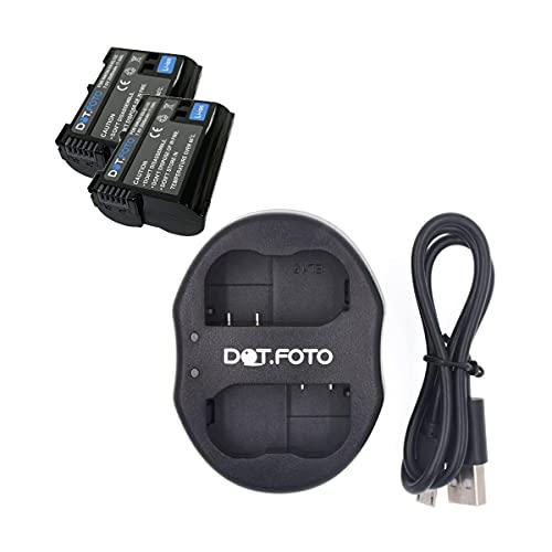 Dot.Foto EN-EL15, EN-EL15b, EN-EL15c Premium Alta Capacidad 2500mAh Batería (x2) & MH-25 Tipo USB Cargador Doble de Batería para Nikon