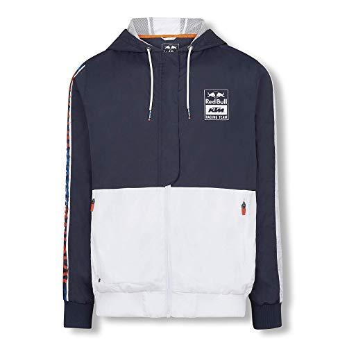Red Bull KTM Letra Jacke, Blau Herren Medium Mantel, KTM Racing Team Original Bekleidung & Merchandise