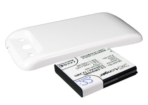 CS-SMI930WL Batería 3300mAh Compatible con [Samsung] Galaxy S3, Galaxy SIII, GT-I9300, GT-I9308, SGH-T999V sustituye EB-L1G6LLK, para EB-L1G6LLU, para EB-L1G6LLUC, para EB-L1G6LVA