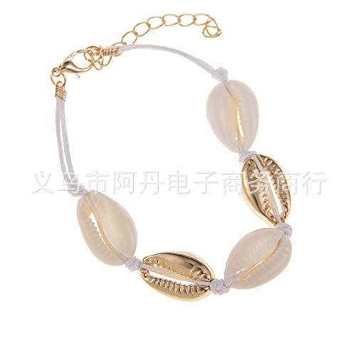 Stijlvolle eenvoud Europese en Amerikaanse sieraden/zomer/strand stijl natuurlijke schelp ketting armband enkelband set, MN