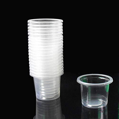 Warmwin 1000 Stück hochwertige transparente Einweg-kleine Tasse 20 ml Mini-Wasser Kaffee Tee Getränk Geschmack Plastikbecher Business Haushaltsbecher_1000 Stück_20 ml