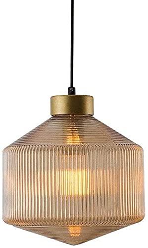 Wlnnes Ajustable creativo simple lámpara colgante vidrio luz luz diamante lámpara de altura lámpara de acero al carbono Luz de techo LOFT Cafe Bar Cocina Lámpara de techo