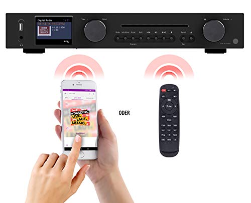 VR-Radio Internet Receiver: WLAN-HiFi-Tuner mit Internetradio, CD, DAB+, UKW & Bluetooth, MP3/WMA (Internetradio-DAB-FM-Tuner)