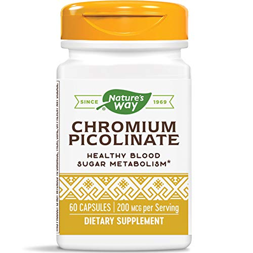 Nature's Way Chromium Picolinate Capsules, 200 mcg per serving, 60-Count
