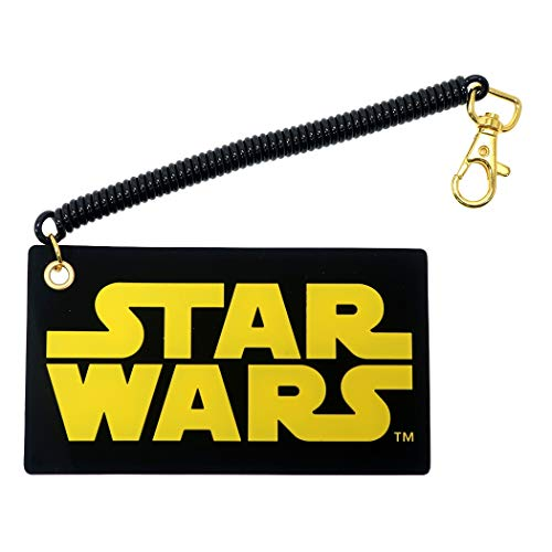 パスケース ダイカット シリコンラバー スターウォーズ 名作 SF映画 キャラクター STAR WARS シングル スプリングコイル付き 定期入れ カード入れ (ロゴ)