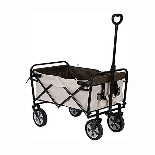 Carros Camping Carts, carros de jardín Plegables, carritos de Compras Plegables, Herramientas de Uso Pesado con Bolsillos Laterales y Bolsas de Almacenamiento