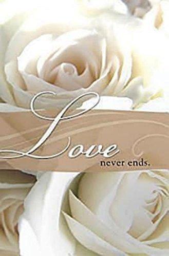 Love Never Ends Wedding Bulletin (Pkg of 50)