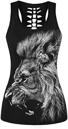 Morbuy Deporte Camiseta de Tirantes Mujer León