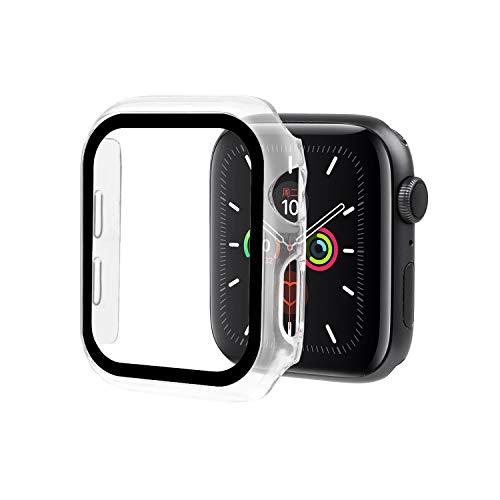 Ciujoy Apple Watch Series 5 / Series 4 Hülle,mit PET Displayschutz, iWatch PC Schutzhülle, iwatch Displayschutz All-Around Hülle für Apple Watch Series 5 / Series 4 44mm Weiß