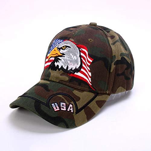 WAZHX Herren Baseball Cap Animal Farm Snapback Caps Für Frauen Patriotische Stickerei American Eagle Und Flagge Usa 3D Dad Black Trucker Hat Usacamouflage