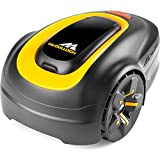 McCulloch ROB S400 Robotic Lawn Mower – Cuts up to 400 sq m, Manicured Lawn, Tackles 35 Percent Slop Gradients, Lawn Growth Sensors, Simple Set Up, Intuitive Keypad