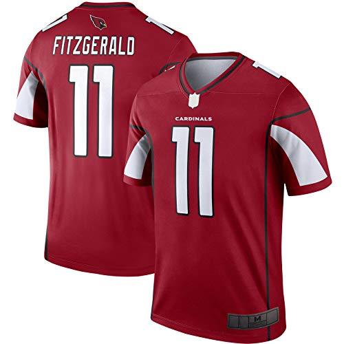 SANXIAN American Football Jersey Larry Custom Fitzgerald T-Shirt Arizona Herren Rugby Trikot Cardinals Sweatshirt #11 Legend Player Jersey - Cardinal-XXXL