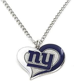 aminco NFL Swirl Heart Necklace