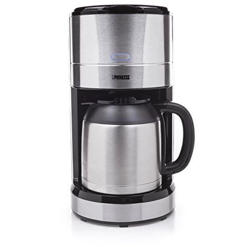 Princess 246000 Cafetera Isolation DeLuxe, 1000 W, 14 cups, Negro, Acero inoxidable