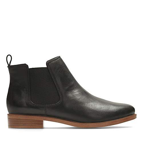 Clarks Taylor Shine, Damen Chelsea Boots, Schwarz (Black Leather), 40 EU (6.5 UK)