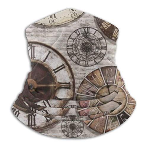 Pearl Bertie Vintage Antiquitäten Steampunk Uhren Damen Herren Stirnband Schal Hals Hals Gamasche Gesicht Schal Bandana Schalldämpfer Schweißband Ski Halswärmer