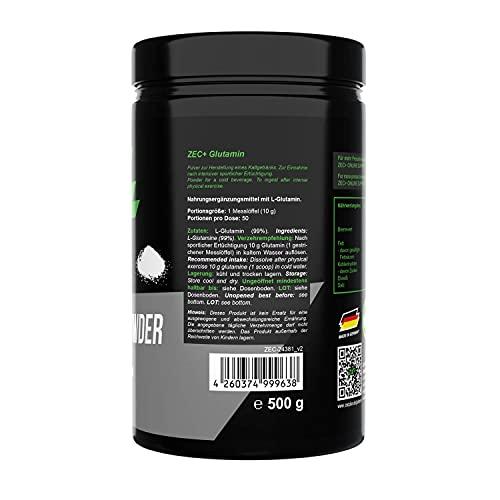 Zec+ Nutrition Glutamin Pulver , 1 x 500 g - 5