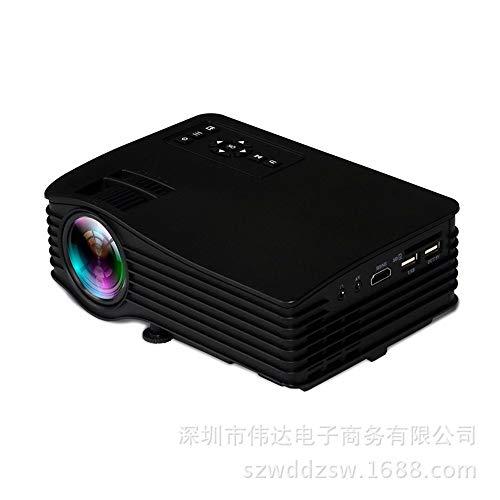 Beamer, draadloze wifi-projector voor mobiele telefoon, mini-huis, mini 1080P HD-projector, synchroone, LED-projector