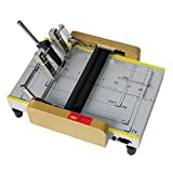 110V A3 Booklet Making Machine Paper Bookbinding and Folding Booklet Stapling Four-Position Thread Type Book Binding Machine Pamphlet Stapler Paper Folding Machine