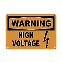 警告高電圧 メタルポスタレトロなポスタ安全標識壁パネル ティンサイン注意看板壁掛けプレート警告サイン絵図ショップ食料品ショッピングモールパーキングバークラブカフェレストラントイレ公共の場ギフト