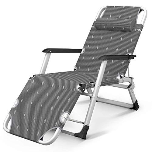 BD.Y Facile à Transporter, Chaise Pliante inclinable, 1780 * 520 * 250 mm, Teslin, Chaise zéro gravité, adaptée à la Chambre, au Repos de Jardin, au Repos de Bureau, inclinable