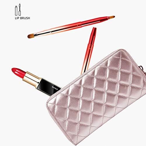 Jieqiong Voyage cosmétique de Brosse Portant des Outils télescopiques de Maquillage Une Brosse de Maquillage de débutant,Rouge