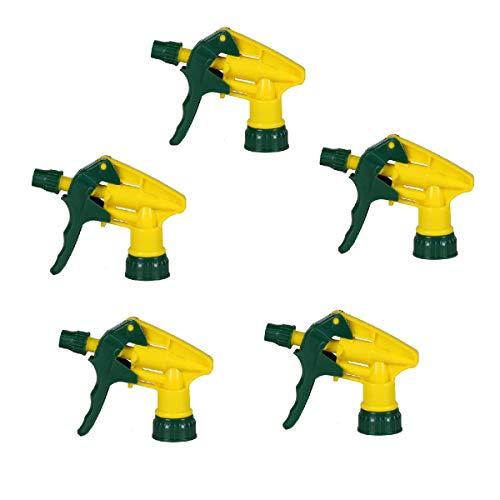 OUNONA 5 pulverizadores industriales resistentes a los productos químicos para jardinería, limpieza de ventanas y suministro de janitorial