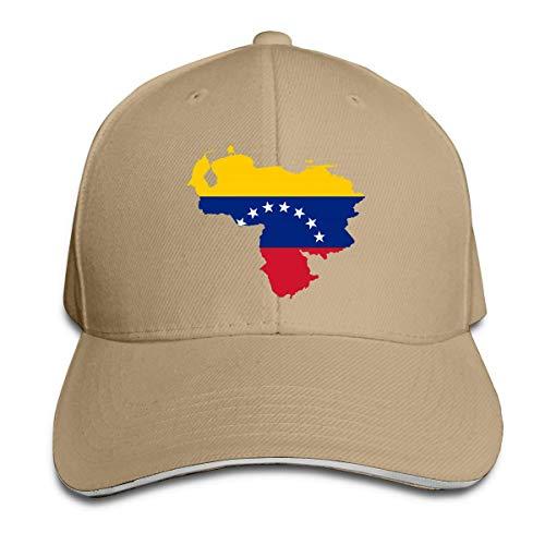 DJNGN Tapa de Cobertura Venezuela Map Flag Men Women Outdoor Rapper Hat Adjustable Strap