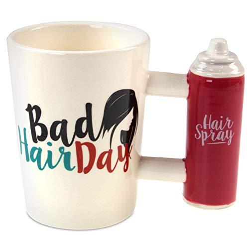 Tasse mit Haarspray Griff Kaffeetasse Kaffeebecher Becher Teetasse