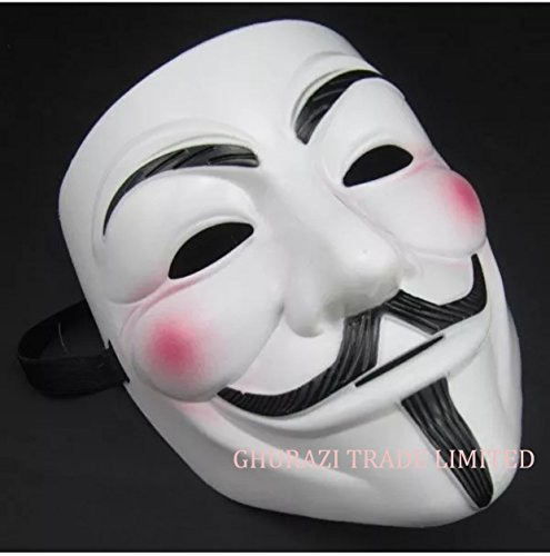 V für Vendetta Maske Anonymous Halloween Guy Fawkes Fancy Dress Up Erwachsene Kostüm