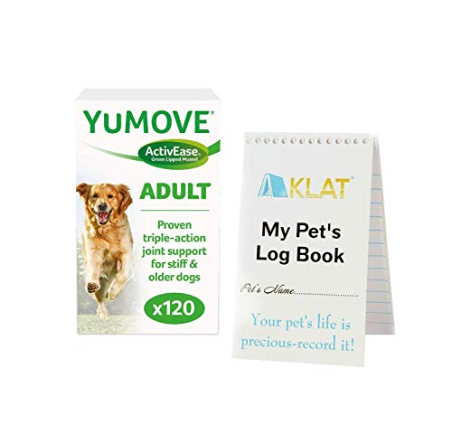 Yumove Dog Joint Supplement for 7+ Dogs +Pet Notebook