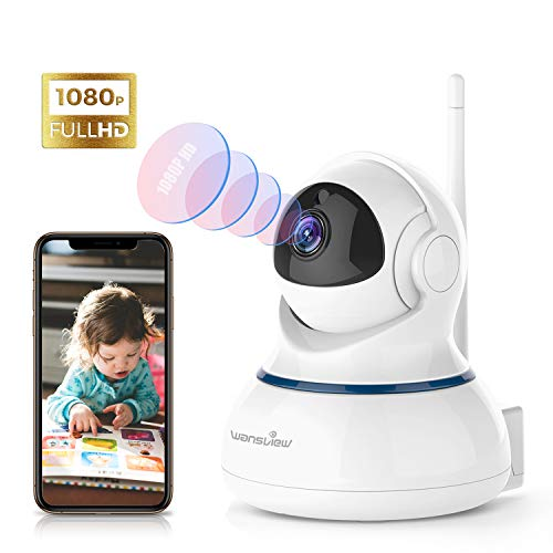 Wansview Caméra IP sans Fil, Caméra Surveillance WiFi, FHD 1080P Caméra Bébé avec Détection de...