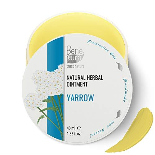 Pomada natural con milenrama blanca 40ml, extracto de aceite frío, 100% natural - contra las hemorroides, estabiliza las paredes de los vasos sanguíneos y mejora el flujo sanguíneo- hecho a mano en EU
