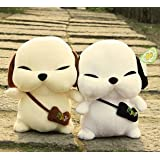30cmホワイト1個とライトイエローかわいいLovely韓国語犬ぬいぐるみおもちゃwatinsho (ランダムカラー)
