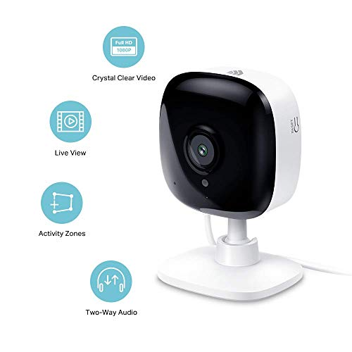 Kasa Spot Indoor Camera by TP-Link, 1080p HD Smart Home Security Camera with Night Vision, Motion Detection for Pet Baby Monitor, Works with Alexa Echo