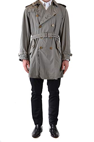Luxury Fashion | Aspesi Heren MCBI39271 Grijs Polyester Trenchcoats | Seizoen Outlet