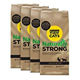 Purina Tidy Cats Unscented, Clumping, Natural Cat Litter, Naturally Strong Clay Multi Cat Litter - (4) 12 lb. Bags