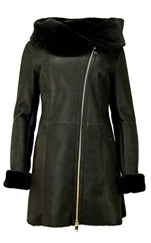 DX-Exclusive wear Damen-Schaffellmantel, Lammfellmantel KPKK-0005 (40)