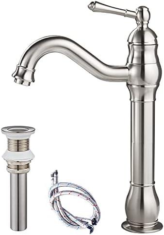 Top 10 Best brushed nickel vessel sink faucet Reviews
