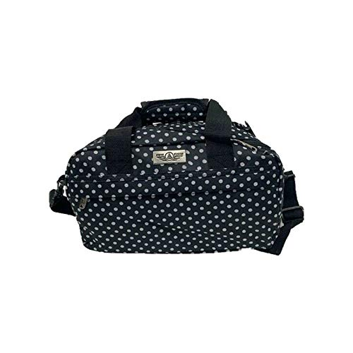 RYANAIR Hand Luggage Travel Cabin Flight Bag Under Seat Holdall Bag - 40x20x25cm (Black (Poker Dot))