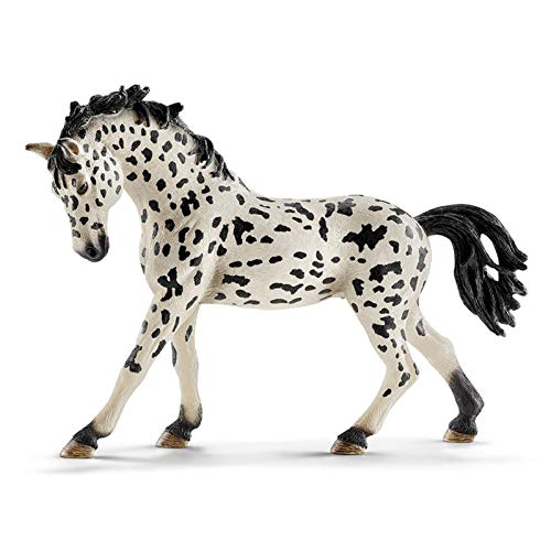 Knabstrupper Mare Denmark Knabstrupper Mare Horse Toy PVC Wild Life Animal Figures, Realistic Scale Detailing, Endange red Species Awareness, Figure Farm Life Horse-1.4x5.5x3.9 Inches