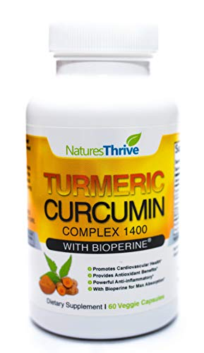 Organic Turmeric Curcumin with Bioperine Capsules - American-made Tumeric curcumin supplement with Bioperine for Better Absorption - 60 Count Natural Non GMO Antiinflamatory supplements turmeric pills