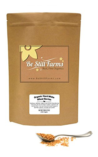 Be Still Farms Organic Hard White Wheat Berries (1lb) Ideal for White Wheat Bread - Berry Grain in Wheat Bulk form - Non-GMO Hard White Berries Bulk - Vegan White Berries - Healthy Diet Berries