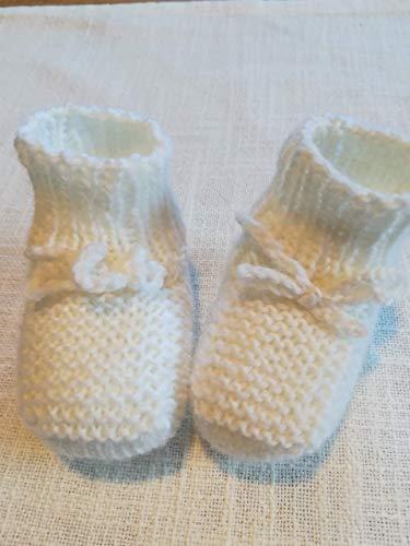 Babyschühchen Erstlingsschuhe Taufschuhe Neugeborene gestrickt